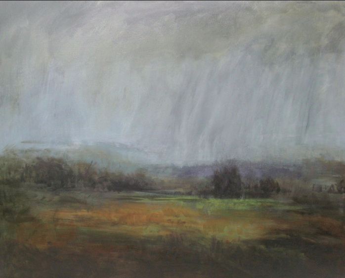 """Turning"", 40"" x 50"", oil on canvas, © Anita C. Miller [SOLD]"