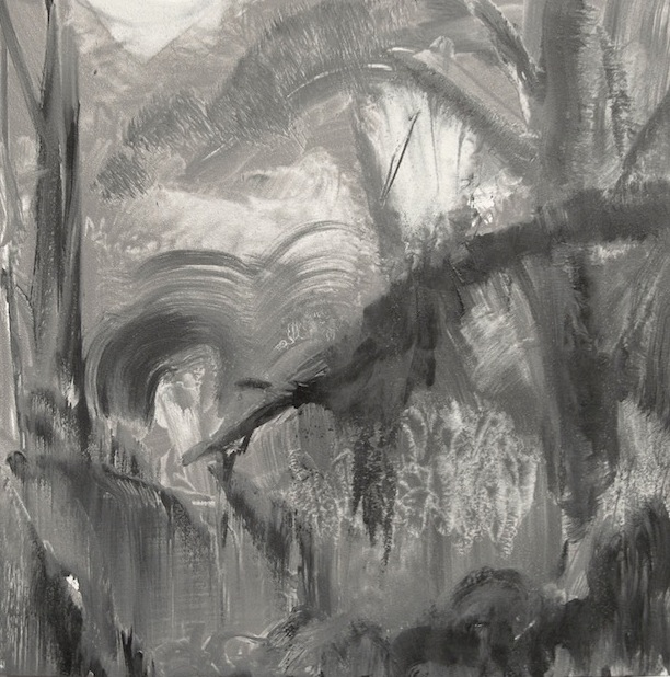 "Untitled (forest), 6"" x 6"", oil © Anita C. Miller"