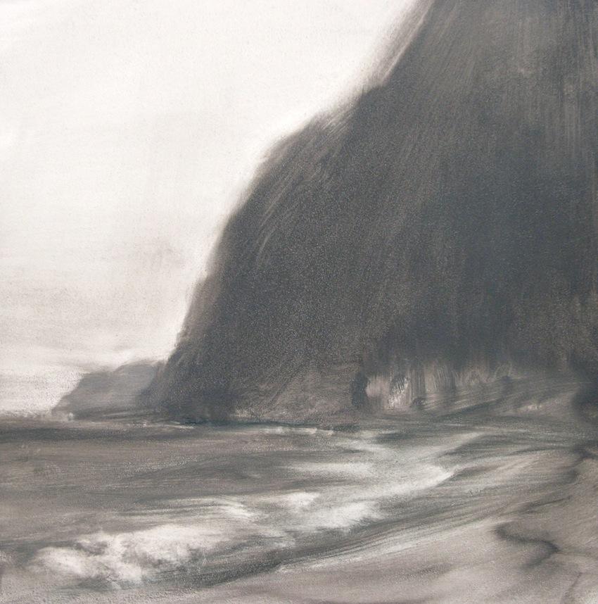 """Windward Coast"", 6"" x 6"", oil on board, © Anita C. Miller"