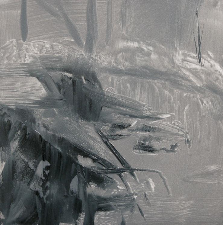 """Along The Edge"", 5"" x 5"", oil on board, © Anita C. Miller"