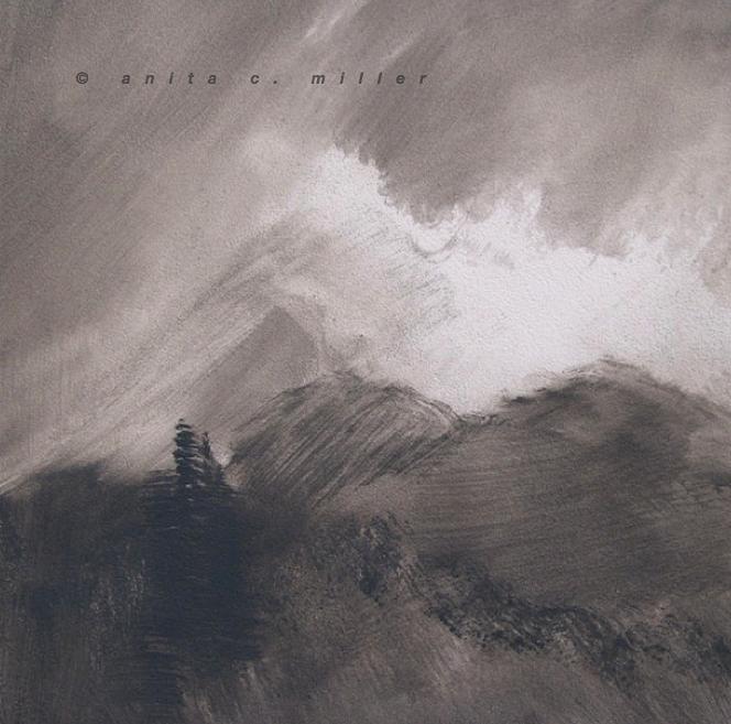 mist on the ridgeline