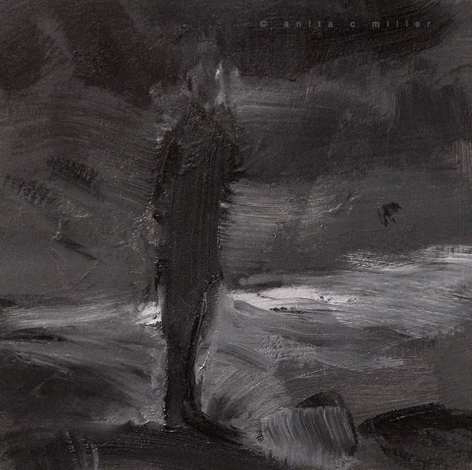 dark standing figure