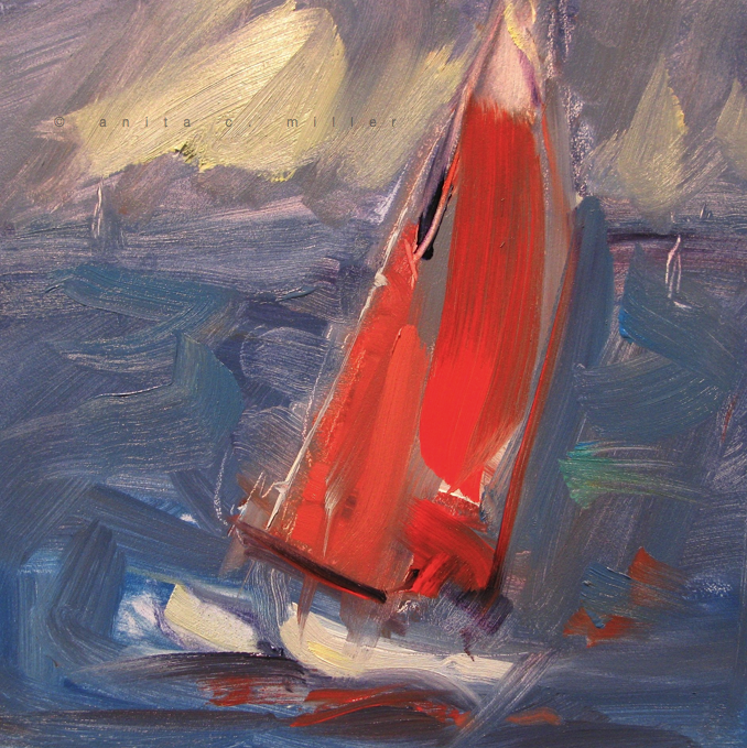 red Hobie cat